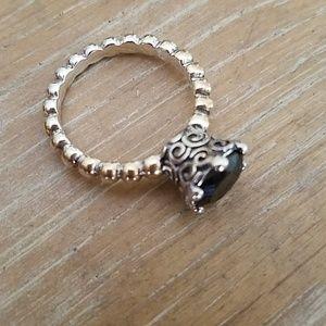 Pandora black onyx ring